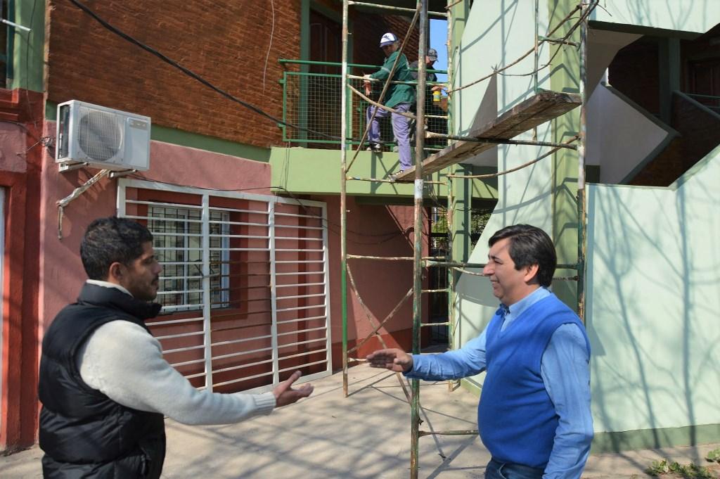 Equipo Hábitat Obras en el barrio Ítalo Argentino